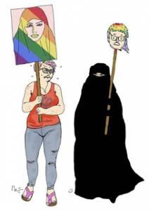 El movimiento LGBT y el feminazismo se arrodillan de nuevo ante el Islam
