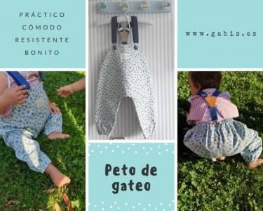 Pantalones de gateo, un imprescindible si tu bebé está empezando a gatear ⋆ Gabis. es