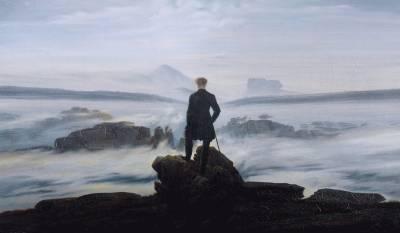 El caminante sobre el mar de nubes. David Caspar Friedrich