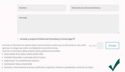 Formularios de contacto Web - Nikana Diseño Web