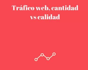 Tráfico web, cantidad vs calidad