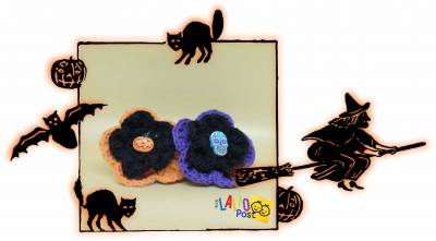 Ideas originales en crochet para Halloween: Tutorial de Flores