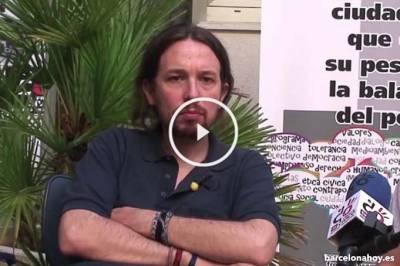 El líder de Podemos lamenta la cañida del muro de Berlín