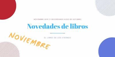 Estos son los libros que leerás en noviembre