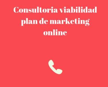 Consultoría de plan de marketing online, viabilidad y optimización