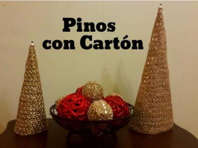 Pinos en Cartón para esta Navidad