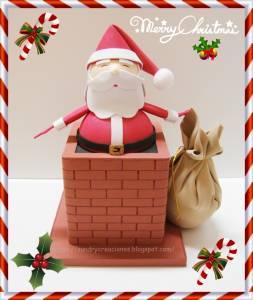 Fofucho Papa Noel en la Chimenea