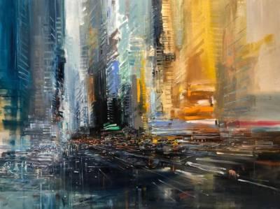 Carlos Azañedo y sus paisajes urbanos abstractos