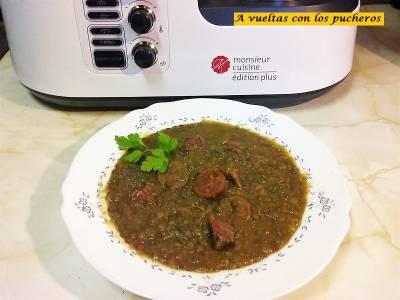 Lentejas con chorizo Monsieur Cuisine