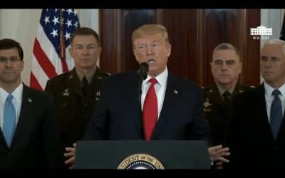 """Donald Trump: """"A Irán nunca se le permitirá tener un arma nuclear"""""""