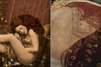 Gustav Klimt y sus obras cobran vida en la fotografía de Inge Prader