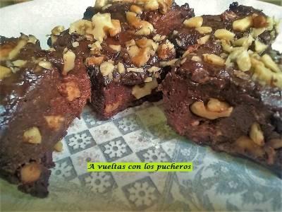 Brownies light: arroz y chia - microondas