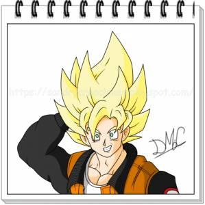 Dibujando Dragon Ball: Son Goku ropa de calle