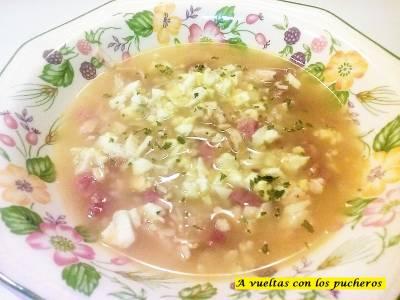 Sopa de picadillo - microondas