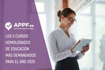Los 5 Cursos Homologados En Educación Más Demandados Para 2020