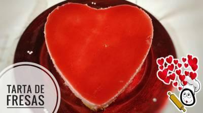 Tarta para San Valentín de Fresa en Thermomix