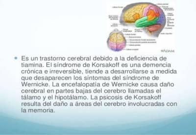 Encefalopatía wernicke psicosis korsakoff