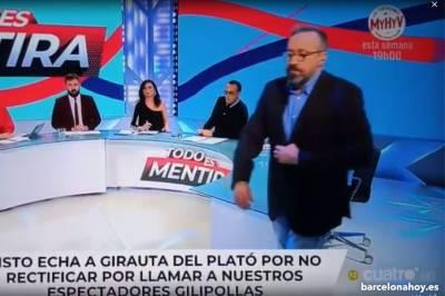 Risto expulsa a Juan Carlos Girauta en directo de su programa de Cuatro