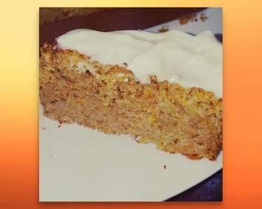 Bizcocho De Zanahoria Y Frutos Secos Con Crema De Queso Con Limón