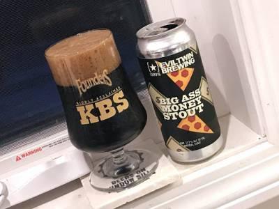 Cerveza hecha con pizza y dinero (Big Ass Money Stout)