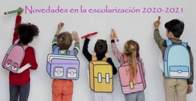 Novedades en la escolarización en Andalucía curso 2020-2021