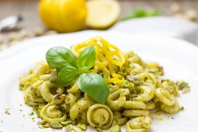 Receta de pasta con pistachos