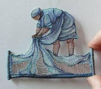 Tutorial de Artesania: Arte con encaje