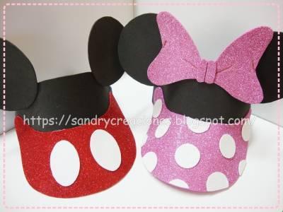 Videras de Mickey y Minnie en Goma Eva