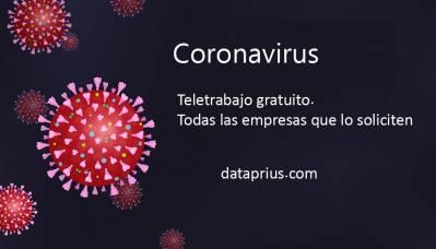 Coronavirus. Teletrabajo gratuito para empresas que lo soliciten. - Blog de Dataprius