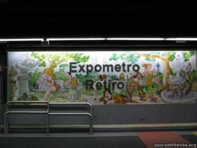 Antonio Mingote y la #filatelia y los azulejos de la Estación de Metro de Retiro de Madrid