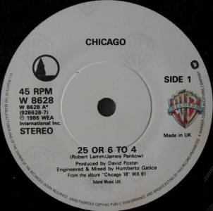 """Chicago. """"25 or 6 to 4"""""""