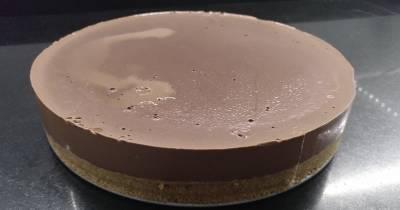 DOS MÁS EN LA FAMILIA: Tarta de cuajada de chocolate negro
