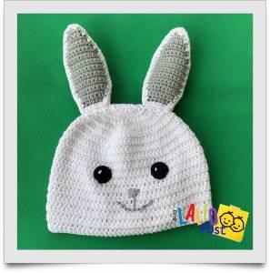 """Gorro de Conejo tejido a crochet, """"Orejitas"""""""