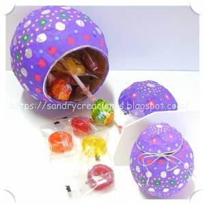 Huevo de Pascua Reciclando Papel