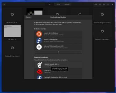 Guía de GNOME: Probando las imágenes de GNOME Nightly VM con GNOME Boxes