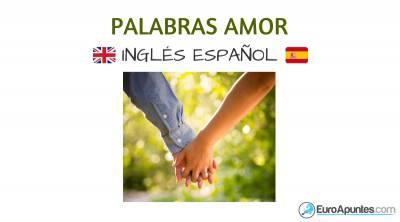 Vocabulario palabras amor inglés español