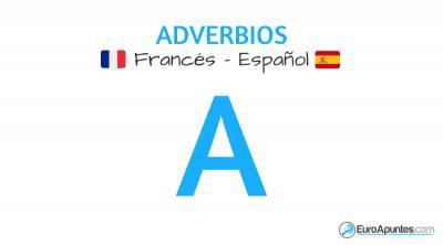 Adverbios que empiezan por A en francés