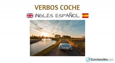 Verbos del coche en inglés y español