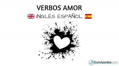 Verbos del amor en inglés y su traducción al español