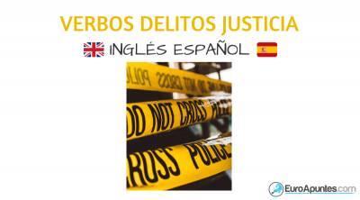 Verbos en inglés delitos y justicia