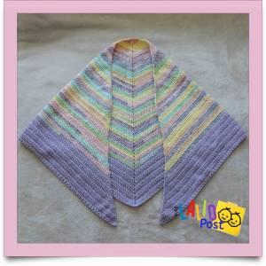 Chal triangular a crochet, un patrón para principiantes