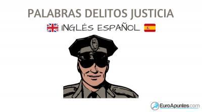 Vocabulario del crimen delitos justicia inglés español