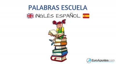 Inglés español vocabulario escuela