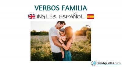 Verbos de la familia en inglés y español gratis
