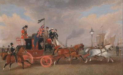 Arte Postal. James Pollard y sus obras de coches de correo (Mail Coach)