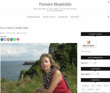 En voz baja, Premio Blog del Día
