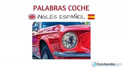 Nuevo vocabulario coche inglés español