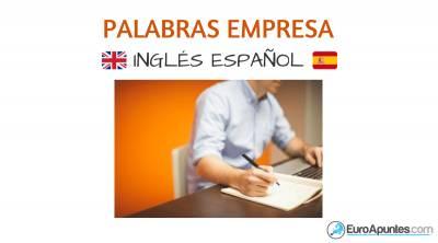 La empresa vocabulario inglés español
