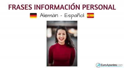 Frases de información personal en alemán y castellano