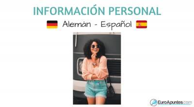 Vocabulario de información personal alemán español